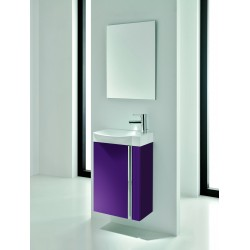Elegance Wall Hung Cloakroom Unit and Mirror Combination Set