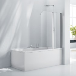 Elegance Aquaglass+ 6mm Double Folding Bath Screen