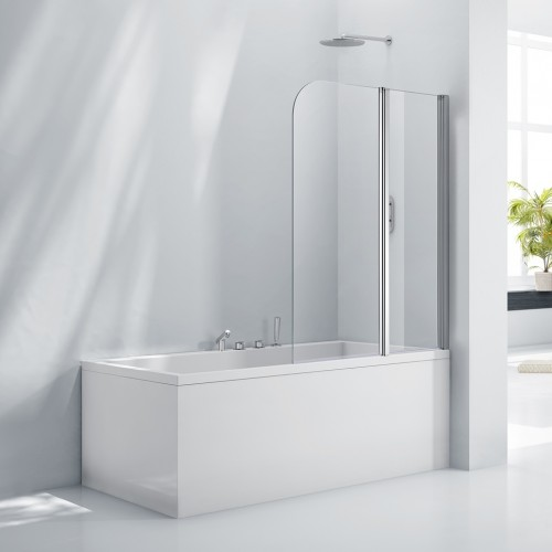 Elegance Aquaglass+ 6mm Double Folding Bath Screen image