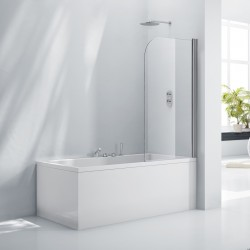 Elegance Aquaglass+ 6mm Single Rise And Fall Bath Screen