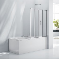 Elegance Aquaglass+ 4 Fold Bath Screen