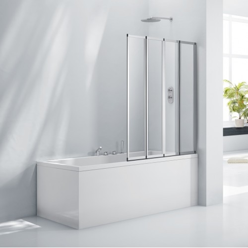 Elegance Aquaglass+ 4 Fold Bath Screen image
