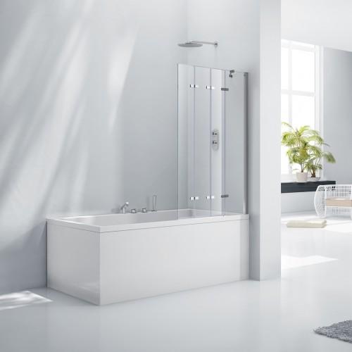 Elegance Aquaglass+ 6mm Frameless 4 Fold Bath Screen