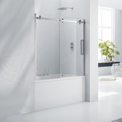 Elegance Aquaglass+ 8mm Frameless Sliding Bath Screen
