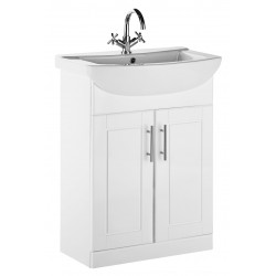 Elegance Aquachic 600 Gloss White Base Unit And Basin