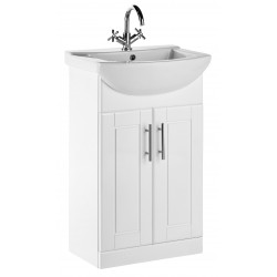 Elegance Aquachic 500 Gloss White Base Unit And Basin