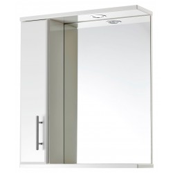 Elegance Aquachic 600 Gloss White Mirrored Wall Unit