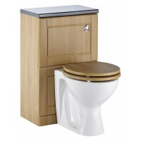Elegance Aquachic 500 Natural Oak WC Unit image