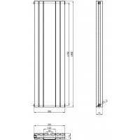Hudson Reed Sloane Double Panel Radiator with Mirror 1800 x 381mm image