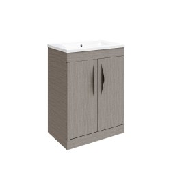 Hudson Reed Memoir 600mm 2 Door Floor Mounted Basin & Cabinet - Blonde Oak - CAB193