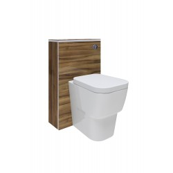 Hudson Reed Memoir BTW Toilet Unit inc Pan and Cistern - Gloss Walnut - FME013-NCR306-XTY014