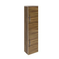 Hudson Reed Memoir 2 Door Wall Mounted Tall Unit - Gloss Walnut - FME016