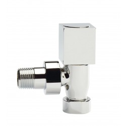 Hudson Reed Square Chrome Radiator Valves - Angled - HT350