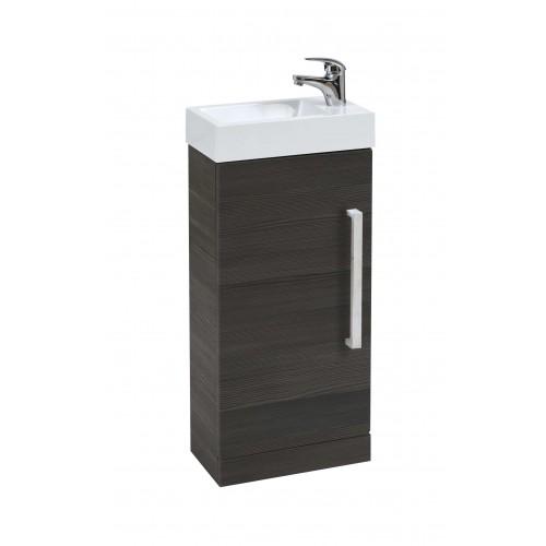 Elegance Aquatrend Avola Grey Floor Standing Cloakroom Unit image
