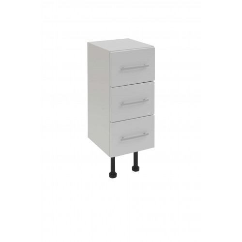 Elegance Aquapure 2 White Gloss 300mm 3 Drawer Base Unit image