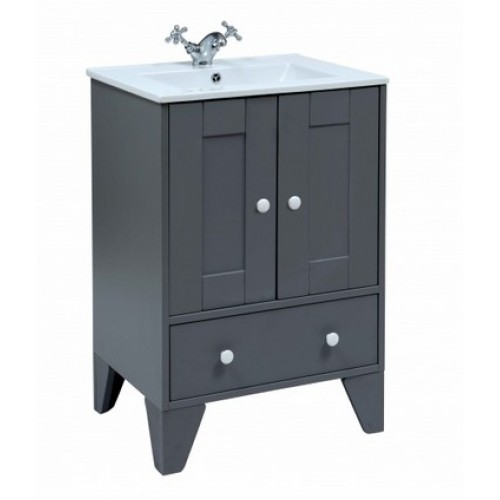 Elegance Aquamode 1 Dust Grey Vanity Unit image
