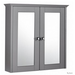 Elegance Aquamode 2 Dust Grey 600mm Mirror Cabinet