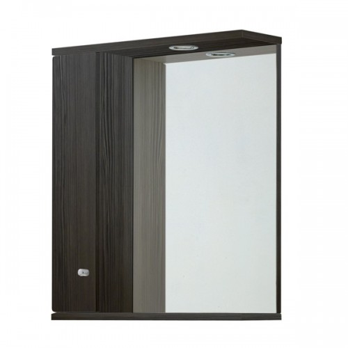 Elegance Aquapure 1 Avola Grey 650 Mirror Cabinet And Light image