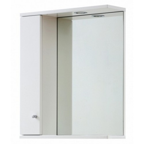 Elegance Aquapure 1 Gloss White 750 Mirror Cabinet And Light image