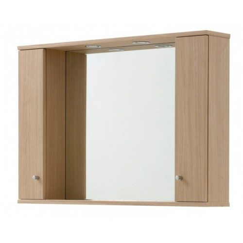 Elegance Aquapure 1 Light Oak 1050 Mirror Cabinet And Light image