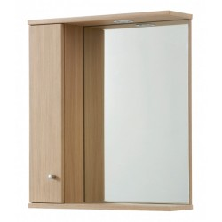 Elegance Aquapure 1 Light Oak 750 Mirror Cabinet And Light