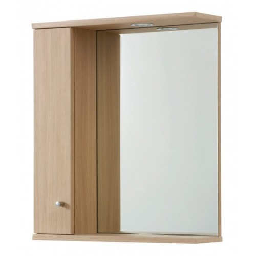Elegance Aquapure 1 Light Oak 750 Mirror Cabinet And Light image