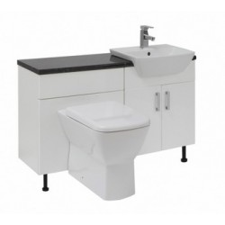 Elegance Aquapure 2 White Gloss 600mm Washbasin Unit