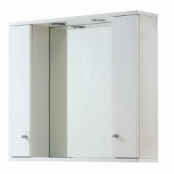 Elegance Aquapure 1 Gloss White 850 Mirror Cabinet And Light