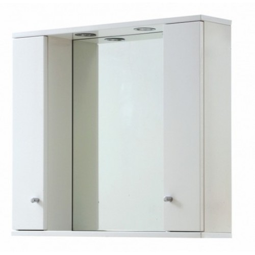 Elegance Aquapure 1 Gloss White 850 Mirror Cabinet And Light image