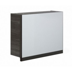 Elegance Aquatrend Avola Grey 500mm Gas-lift Mirror Cabinet With Integral Shelving