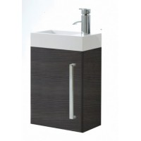 Elegance Aquatrend Avola Grey Wall Hung Cloakroom Unit image