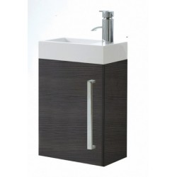 Elegance Aquatrend Avola Grey Wall Hung Cloakroom Unit