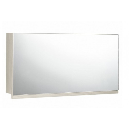 Elegance Aquatrend Avola White 705mm Gas-lift Mirror Cabinet With Integral Shelving image