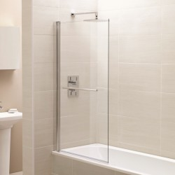 Elegance Prestige Identiti2 Square Single Bath Screen With Towel Rail