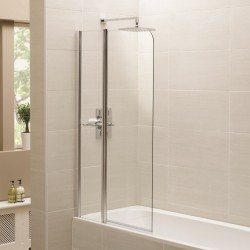 Elegance Prestige Identiti2 Fixed Panel Bath Screen With Shelf