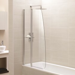 Elegance Prestige Identiti2 Fixed Panel Sail Bath Screen With Shelf