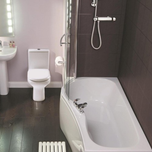 Elegance Compact 1500 X 700mm Left Hand Shower Bath image