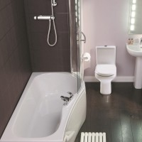 Elegance Compact 1500 X 700mm Right Hand Shower Bath image