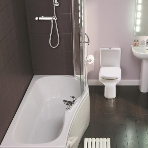 Elegance Compact 1700 X 700mm Tungstenite Right Hand Shower Bath image