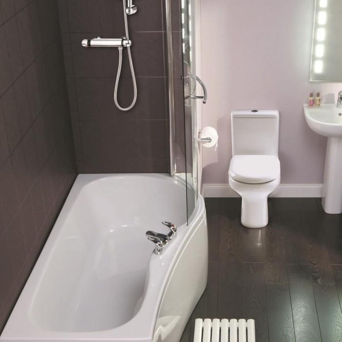 Elegance Compact 1500 X 700mm Right Hand Shower Bath   Shower Baths ...