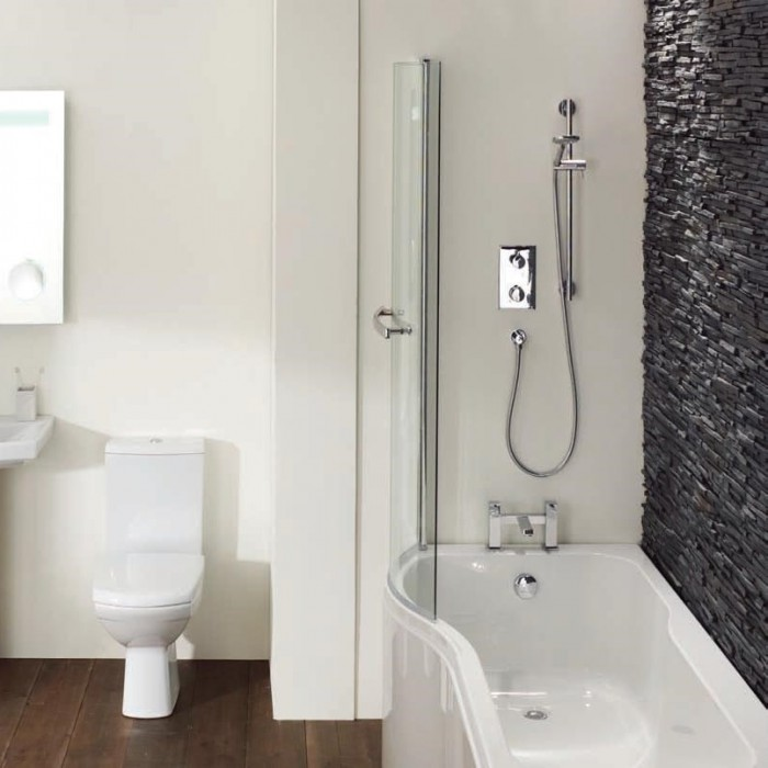 Elegance Luxury P Shape 1700 X 700mm Left Hand Shower Bath | Shower ...