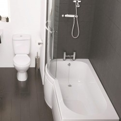 Elegance Waterfall 1700 X 750mm Left Hand Shower Bath