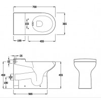 Elegance Compact Eco Rimless back to wall WC image