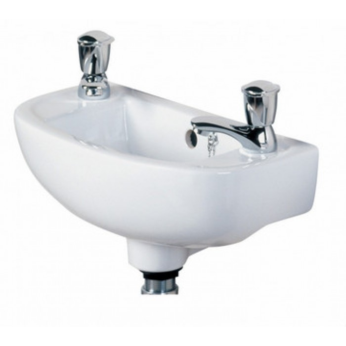 Elegance compact slim 450mm basin wall hung basins - Slim cloakroom basin ...