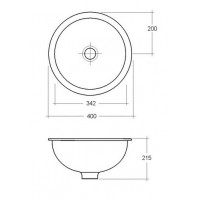 Elegance Emma 400mm Over/Under Counter Basin image