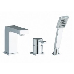 Elegance Pano 3 Tap Hole Bath Shower Mixer MP