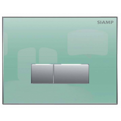 Elegance Siamp Reflect 90 Flush Plate In Frosted Glass