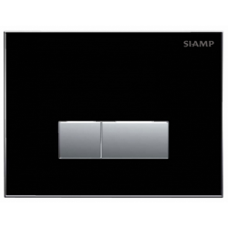 Elegance Siamp Reflect 90 Flush Plate In Black Finish