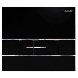 Elegance Siamp Segment flush plate in Black Finish