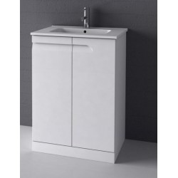Elegance Vitale Gloss White 600mm Floor Standing Unit